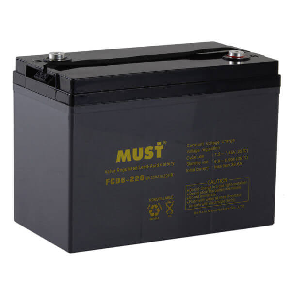 Deep Cycle AGM VRLA Battery FCD Series 6V,12V