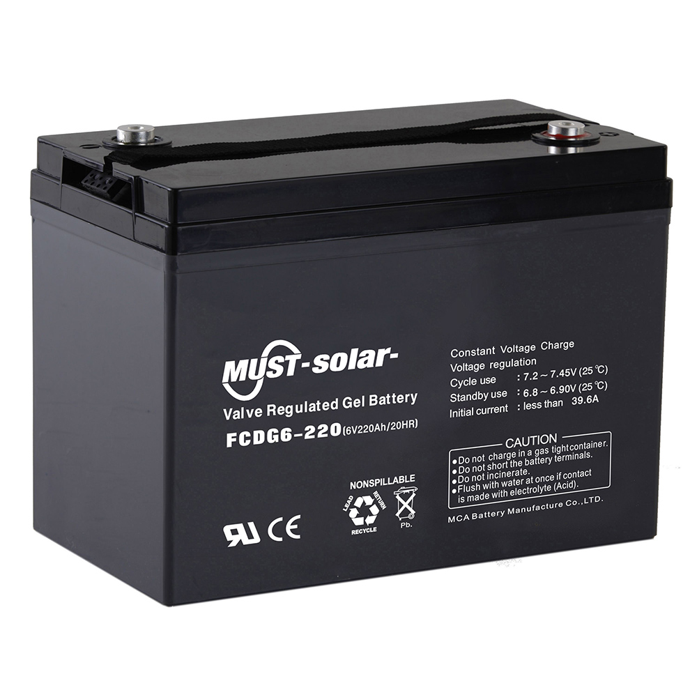 Solar Batteries Deep Cycle Gel Vrla Battery Fcdg Series 6v
