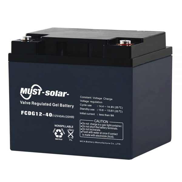Deep Cycle Gel VRLA Battery FCDG Series 6V,12V