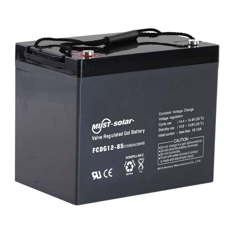 deep cycle gel batteries fcdg series 6v 12v mustups must solar power limited. Black Bedroom Furniture Sets. Home Design Ideas