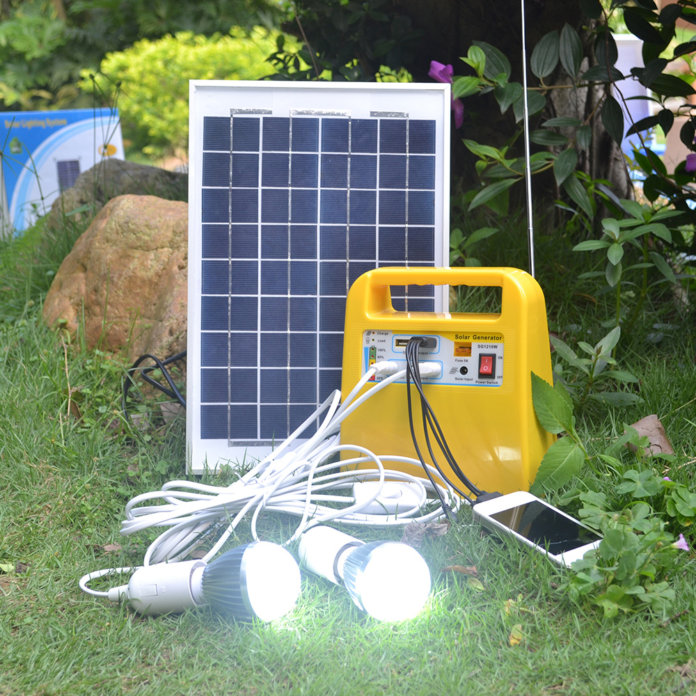 High efficiency 10w solar system suitcase