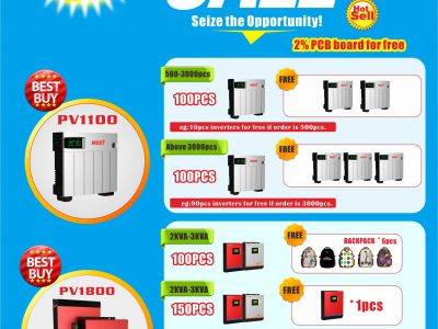 MUST April BIG promotion PV1100&PV1800 Series