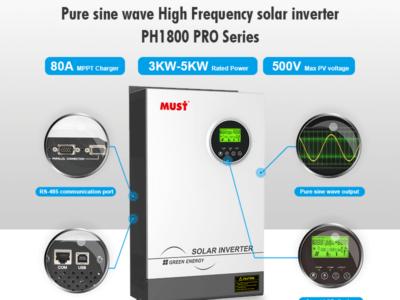 MUST New PV1800 PV 500VDC MPPT inverter arrival